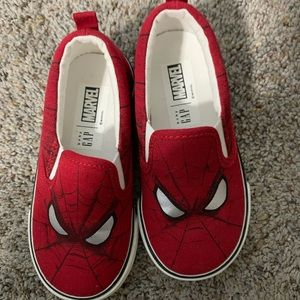 Spider man toddler slip ons